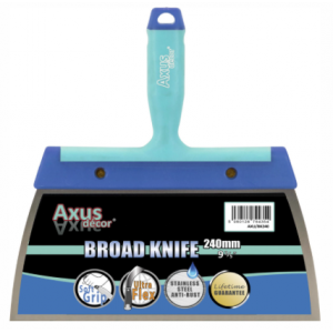 """Axus Decor Stainless Steel Broad Knife 240mm/ 9.5"""""""
