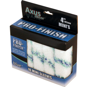 Axus Blue Pro Finish Mini Roller Sleeves Pack Of 10