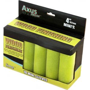Axus Lime Wood Finishing Velvet Flock Mini Sleeves Pack Of 10