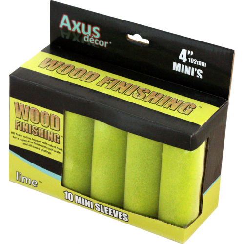 Axus Lime Wood Finishing Velvet Flock Mini Sleeves Pack Of 10