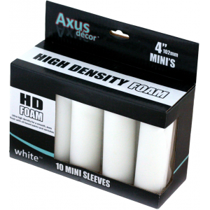 Axus High Density Foam Mini Roller Sleeves Pack Of 10