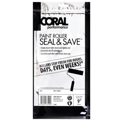 "Coral Performance Seal & Save 9"" Roller Wrapper"
