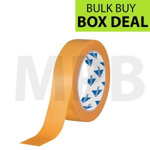 """Deltec Gold Masking Tape 1"""" Box of 36 BUY ONE BOX GET ONE FREE **LIMITED STOCK**"""