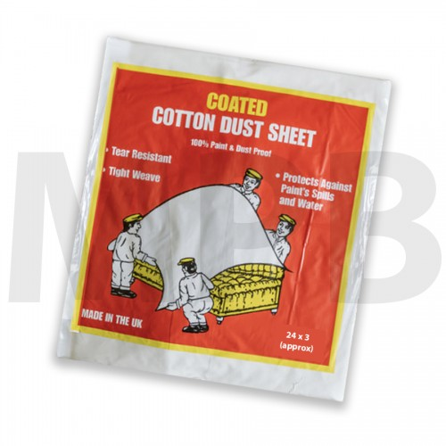 Premium Coated Cotton Dust Sheet 24 x 3ft