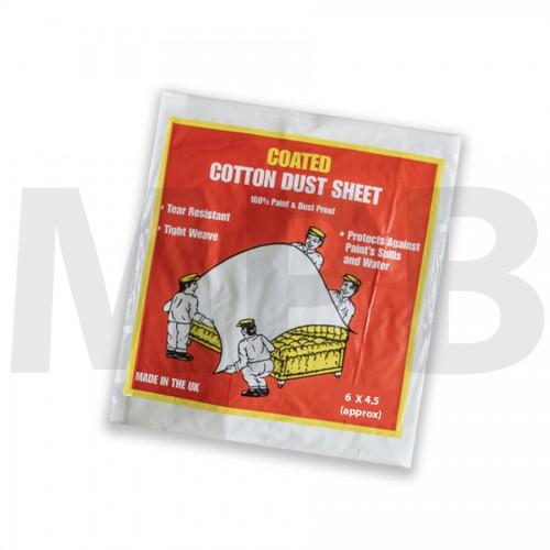 Premium Coated Cotton Dust Sheet 6 x 4.5ft