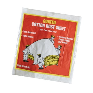 Premium Coated Cotton Dust Sheet 6 x 4.5ft