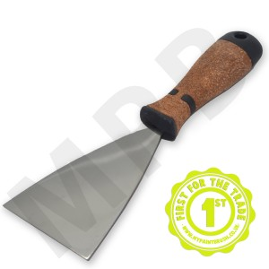 "Hartwig Stainless Steel 3"" Scraper - Cork Handle"