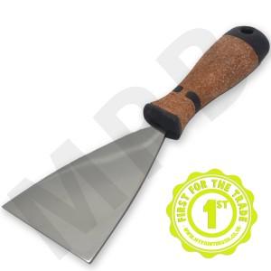 "Hartwig Stainless Steel 4"" Scraper - Cork Handle"