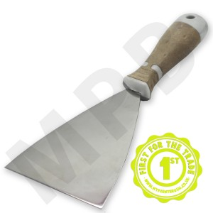 """Hartwig Stainless Steel 5"""" Scraper - Leather Handle"""