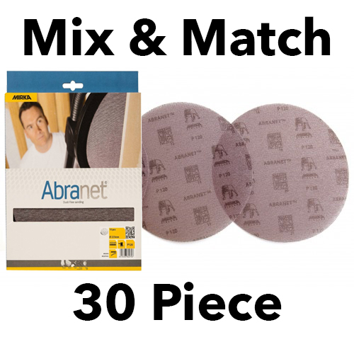 Mirka Abranet 150mm Discs Mix & Match 30 Piece