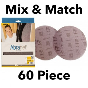 Mirka Abranet 150mm Discs Mix & Match 60 Piece