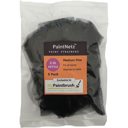 PaintNetz 2.5L Kettle & Hopper Paint Strainer Medium-Fine 5 Pack