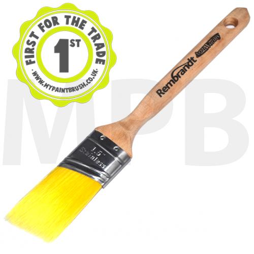 "Arroworthy Rembrandt Semi Oval Angular Sash 1.5"" Paint Brush"