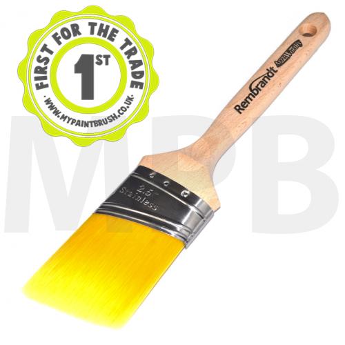 "Arroworthy Rembrandt Semi Oval Angular Sash 2.5"" Paint Brush"