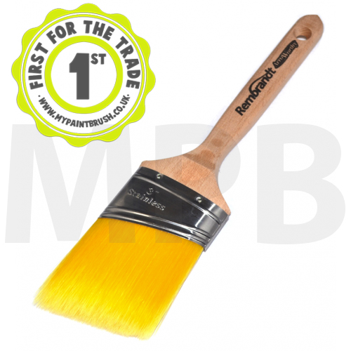 "Arroworthy Rembrandt Semi Oval Angular Sash 3"" Paint Brush"