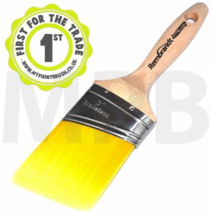 "Arroworthy Rembrandt Semi Oval Angle Beaver Tail 3"" Paint Brush"