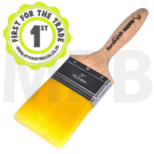"Arroworthy Rembrandt Straight Cut Wall Brush 3"" Paint Brush"