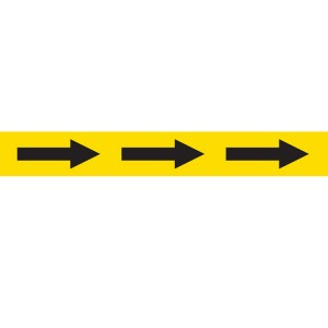 Safe Distance Floor Tape Arrow/Yellow 48mm x 33m