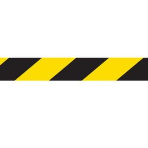 Safe Distance Floor Tape Black/Yellow Hazard 48mm x 33m