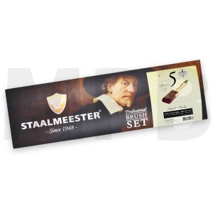 Staalmeester Flat Brush Set 5 Pack