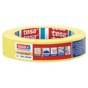 "Tesa Yellow Precision Masking Tape 1"" / 25mm"