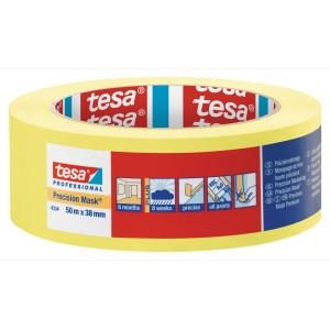 "Tesa Yellow Precision Masking Tape 1.5"" / 38mm"