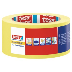 "Tesa Yellow Precision Masking Tape 2"" / 50mm"