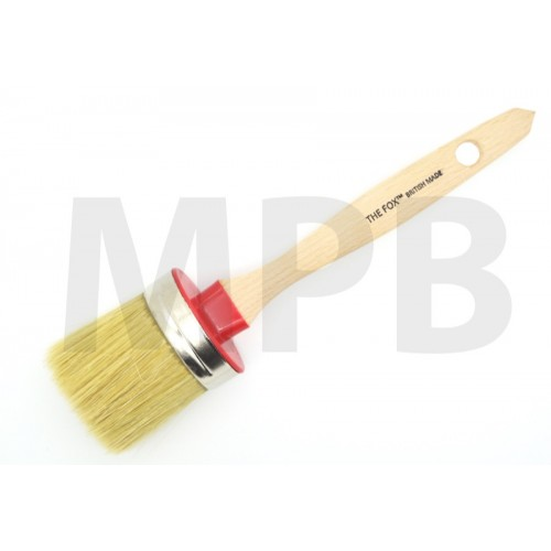 The Fox Chalk & Wax White Bristle Brush Medium