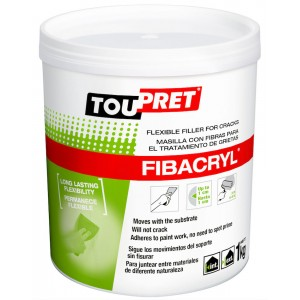 Toupret Fibacryl Flexible Crack Filler 1kg