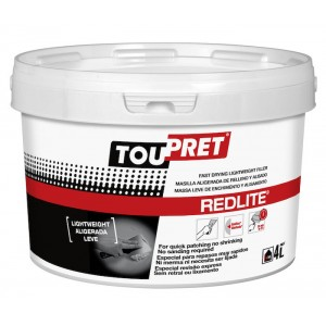 Toupret Redlite Fast Drying Lightweight Filler 4L