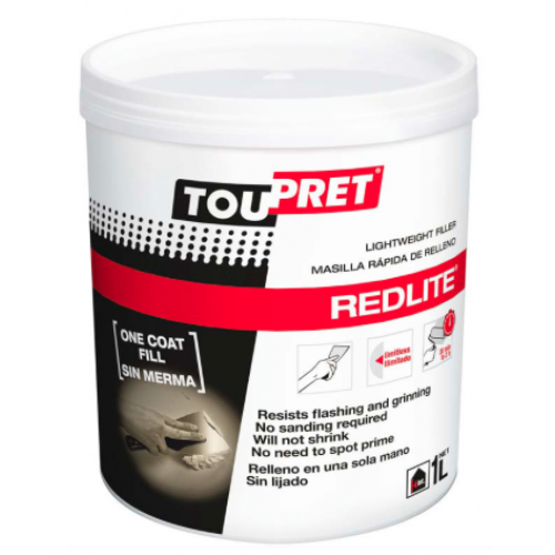 Toupret Redlite Fast Drying Lightweight Filler 1l