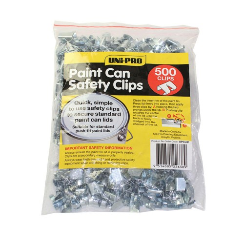 Uni-Pro Paint Tin Safety Clips