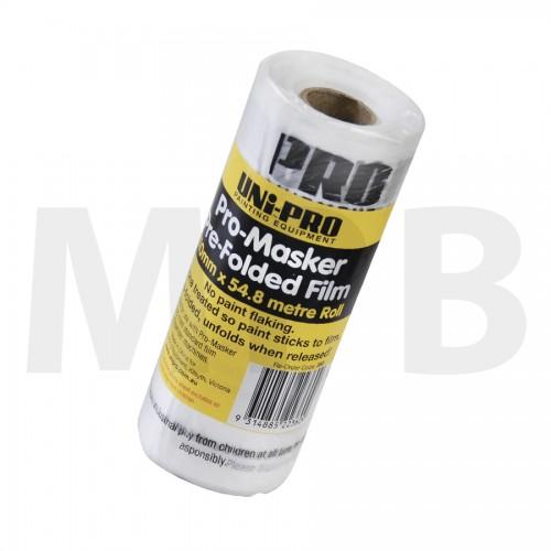 "Uni-Pro Pro Masker Pre Folded Film 24"" x 180' (610mm x 54.8m)"