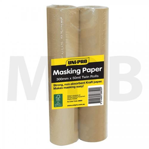 """Uni-Pro Pro Masker Paper 12"""" (300mm) Twin Pack"""