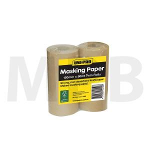 """Uni-Pro Pro Masker Paper 6"""" (150mm) Twin Pack"""
