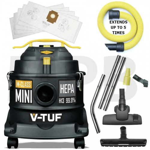 V-TUF M Class Mini Dust Extractor 240v Decorators Pack