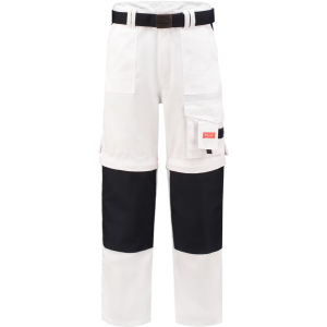 WorkMan 1004 Classic Worker Zip Off Trouser White/Navy