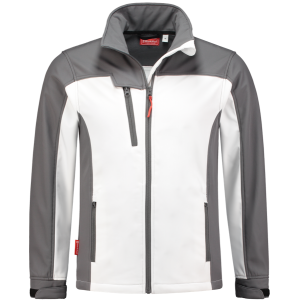 WorkMan 2508 Summer Softshell Jacket White/Grey