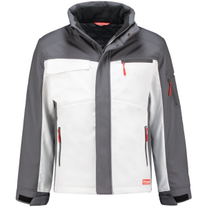 WorkMan 2518 Winter Softshell Jacket White/Grey