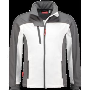 WorkWoman 2508 Ladies Softshell Jacket White/Grey