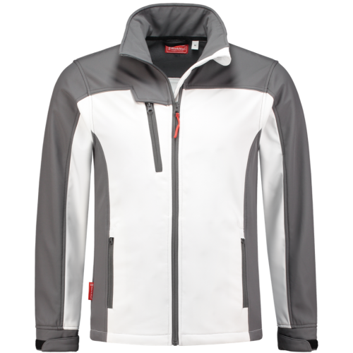 WorkWoman 2508 Ladies Softshell Jacket White/Grey