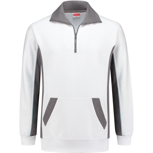 WorkMan 2708 Zipper Sweater White/Grey