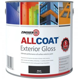 Zinsser Allcoat Exterior Gloss Black