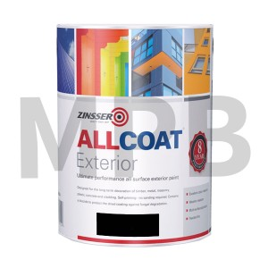 Zinsser Allcoat Exterior Satin Black