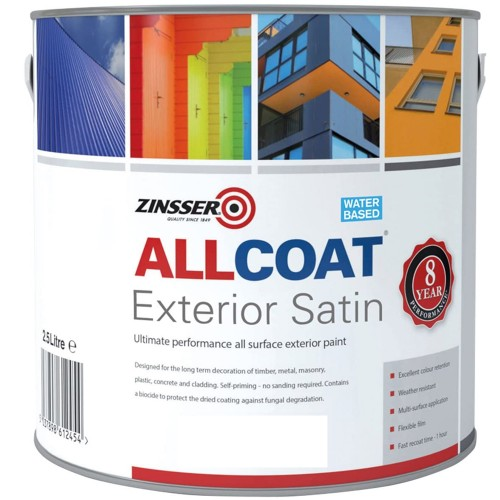 Zinsser Allcoat Exterior Satin White