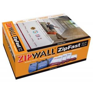 ZipWall Reusuable Barrier Panels- Class A Flame Retardant Multi Pack (ZFMPR)