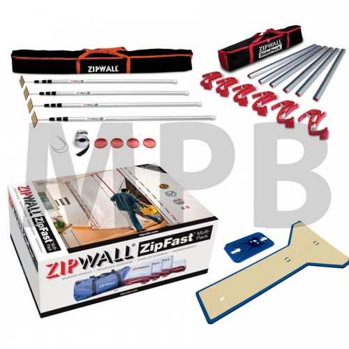 ZipWall Commercial Kit Plus (SLP4 + ZFMP + EPH1 + SDPK)
